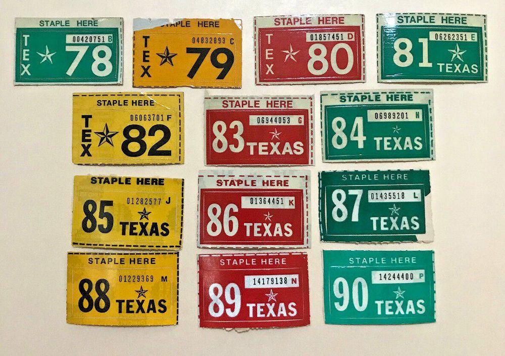 Регистрационные наклейки Техаса