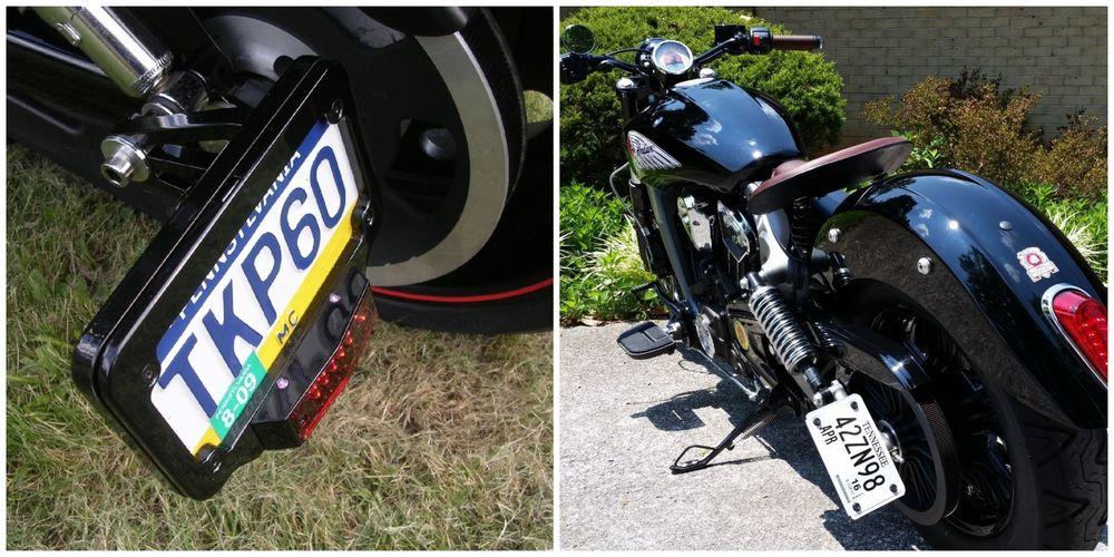 Ориентир номерного знака для мотоцикла