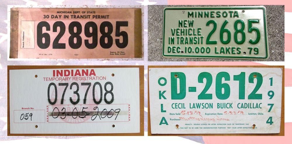 Транзитные и временные таблички