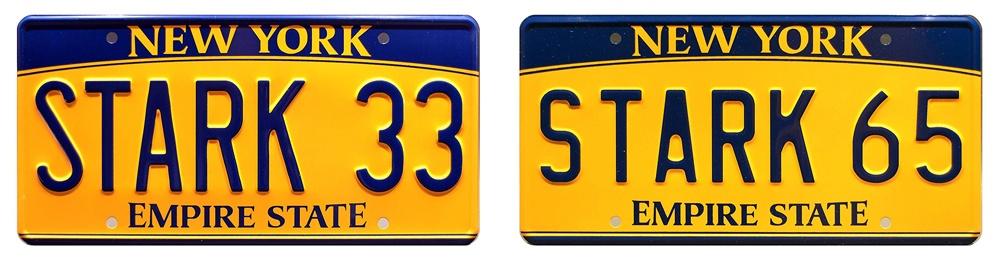 Автомобильные номера Тони Старка