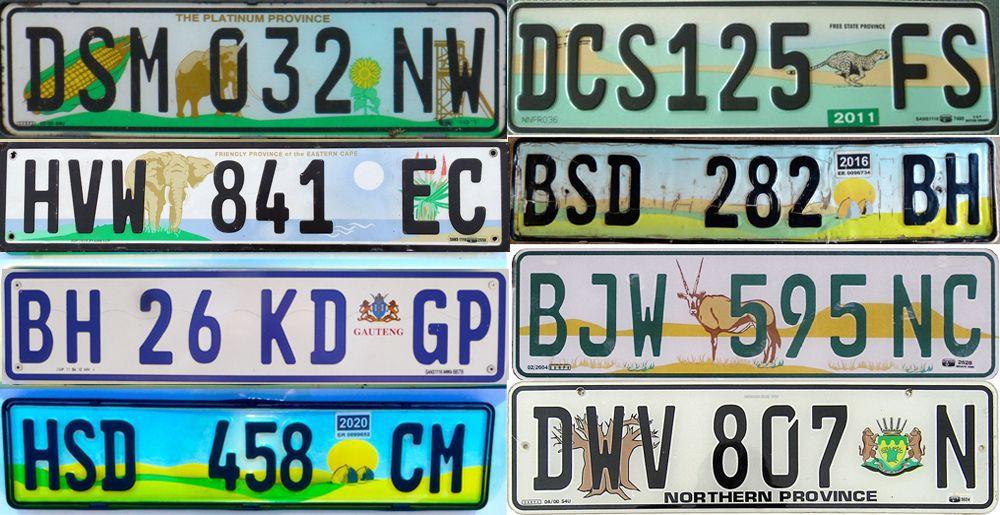 Графические номерные знаки Африки