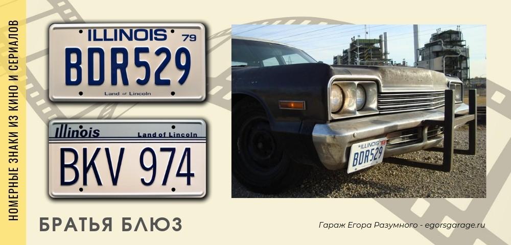 Автомобильные номера Братьев Блюз
