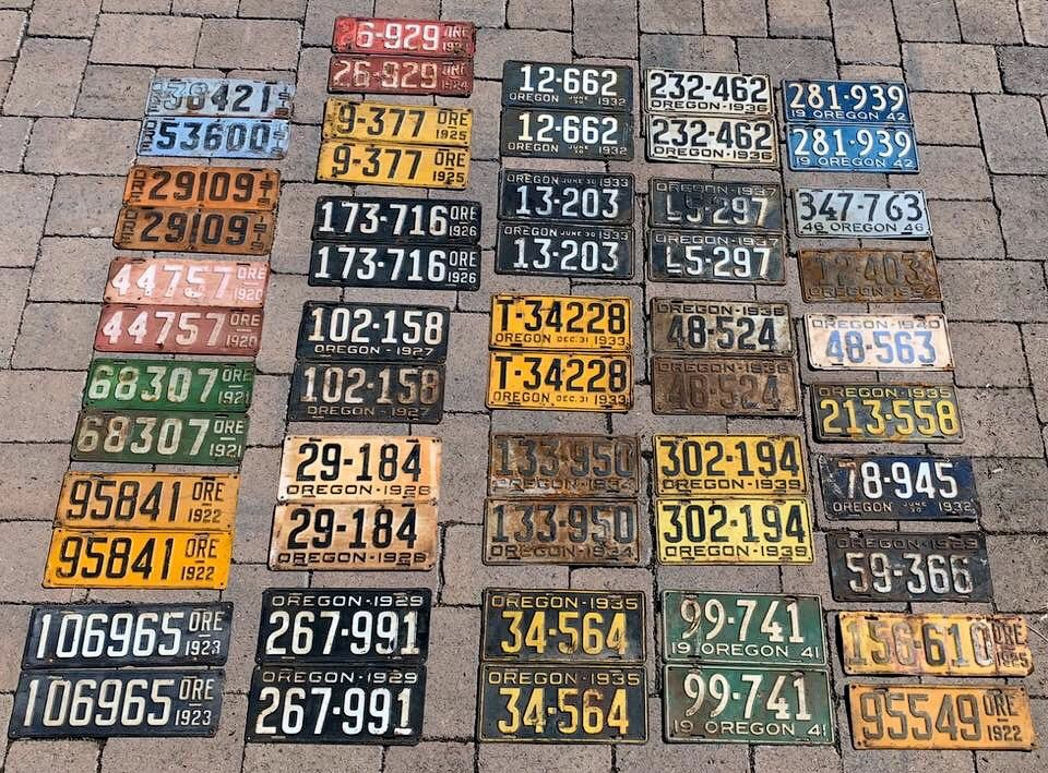 Старые автомобильные номера Орегона