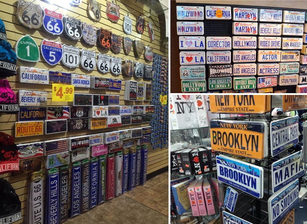 Магазины сувенирных американских номеров