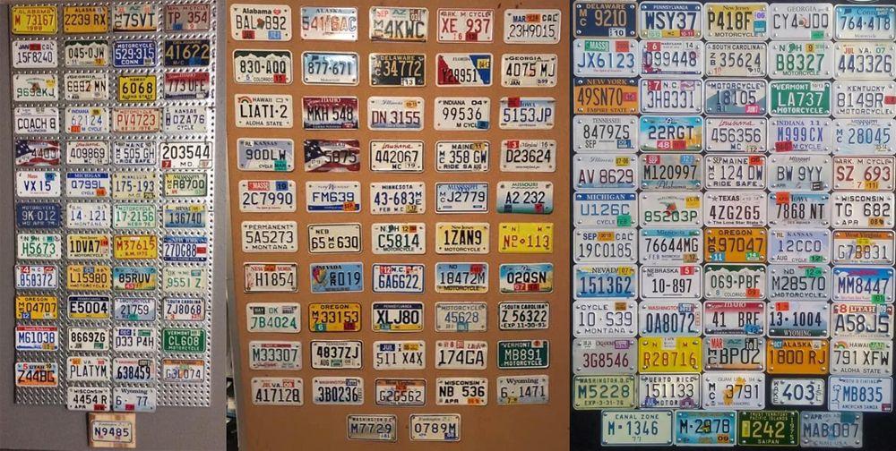 Коллекции мотоциклетных номеров США