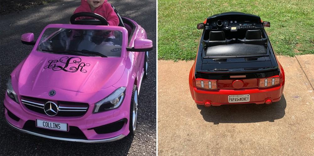 Детские автомобили с номерами