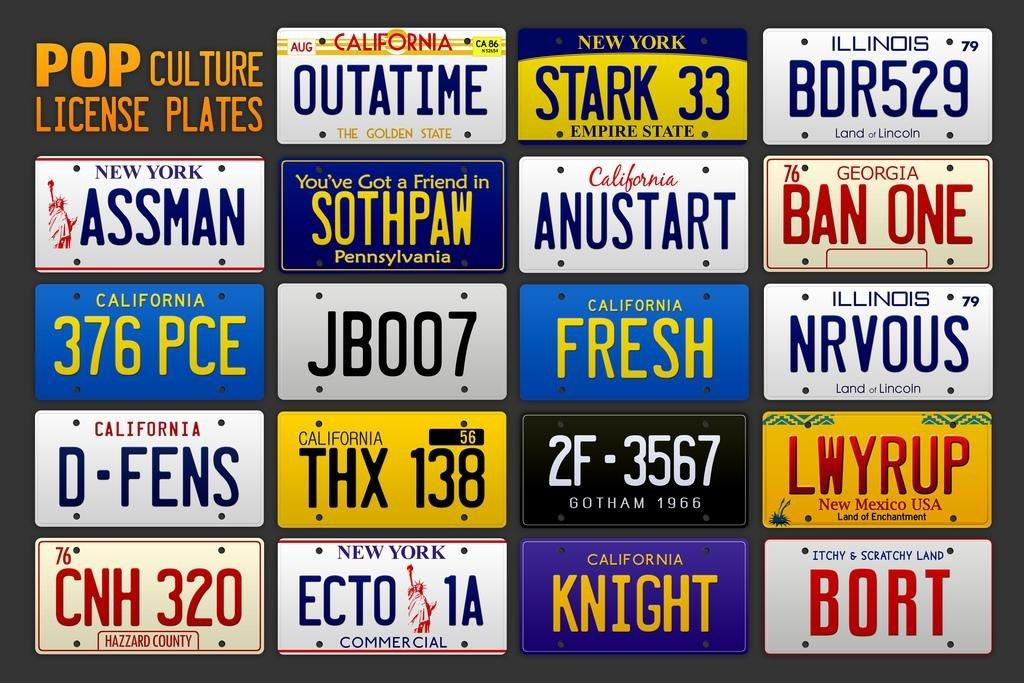 Автомобильные номера из кино и сериалов