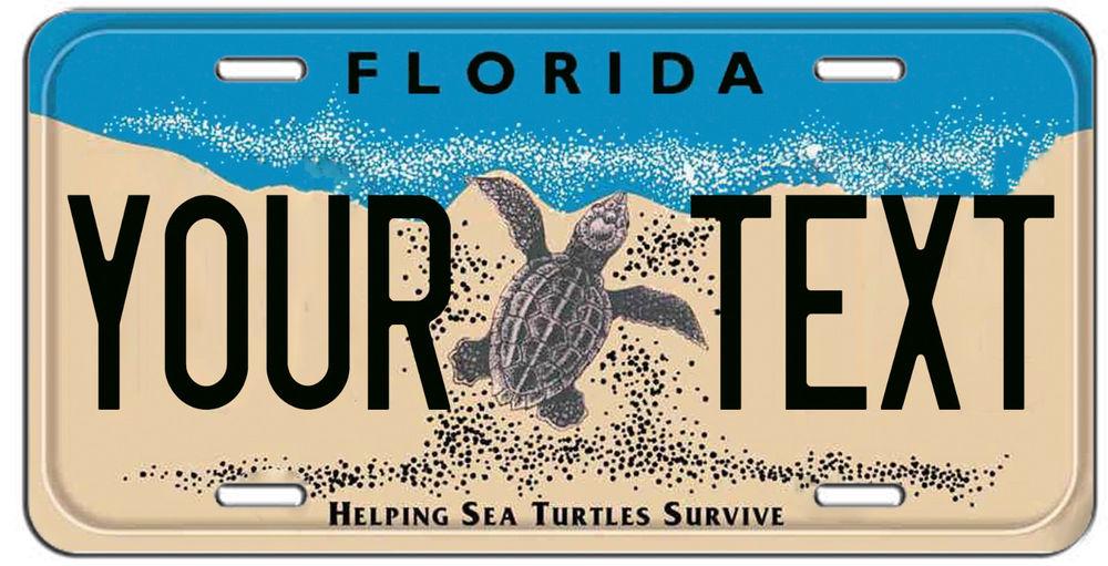 Номерной знак с черепахой из Флориды