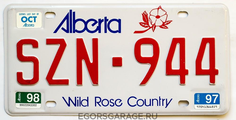 Номерной знак Альберты