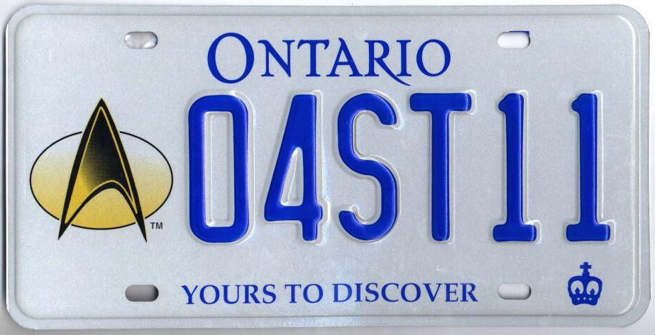 Ontario Star Trek plate