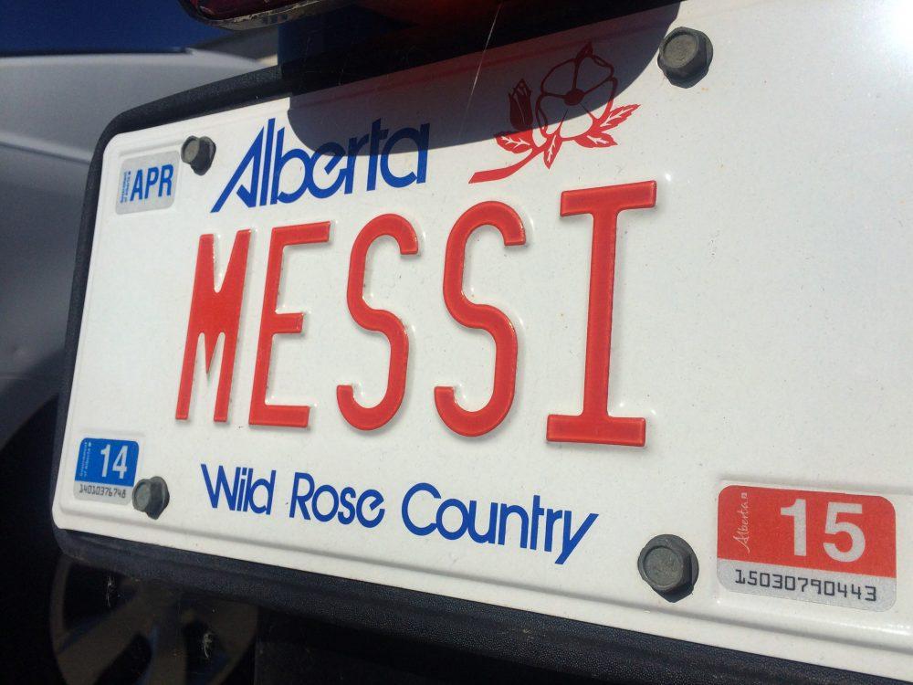 Номерной знак провинции Альберта