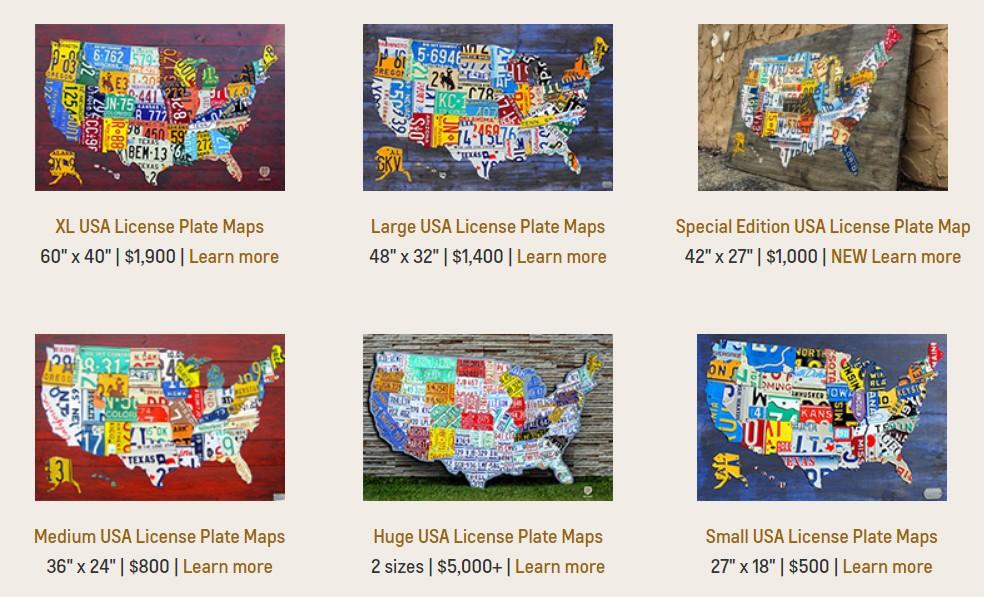 Карты Америки из автономеров
