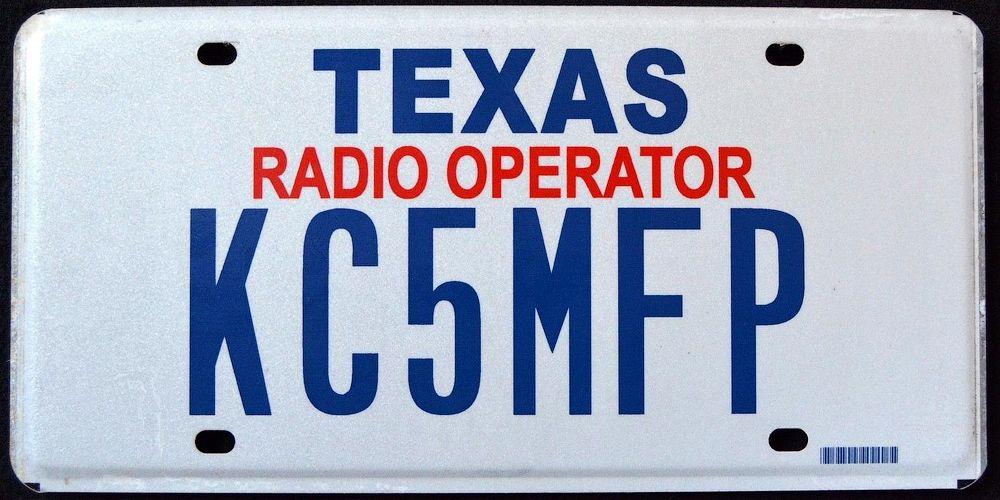 Номерной знак радиолюбителя