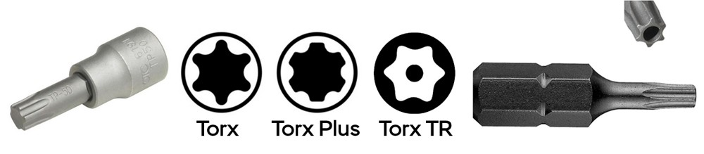 Типы головок Torx
