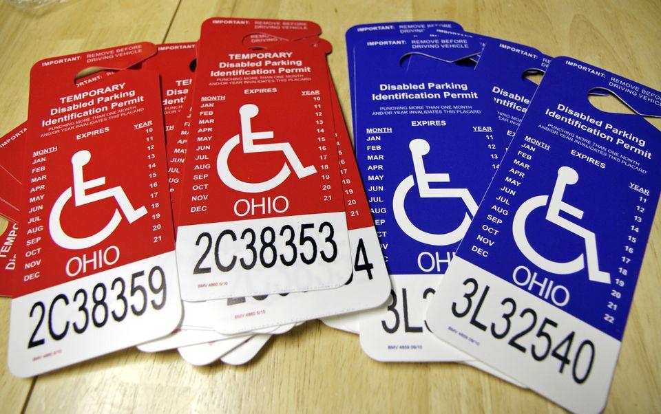 Буклет инвалида для автомобиля в Америке