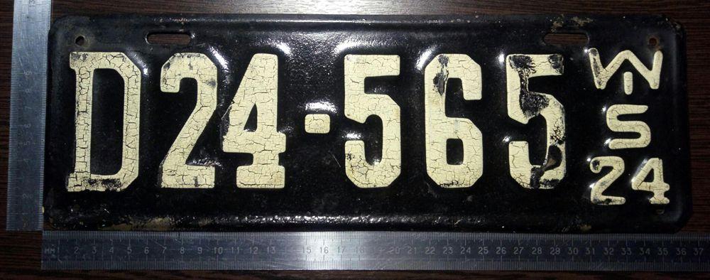 Размеры автономера Висконсина 1924 года