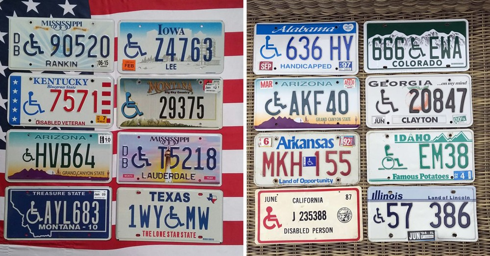 Автомобильные номера со знаком disabled