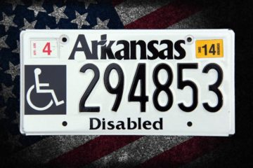 Arkansas disabled license plate