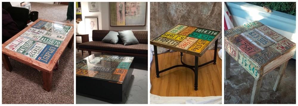 Стильные столы из табличек