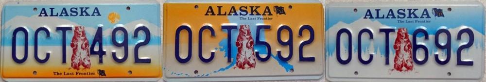 Номера-прототипы штата Аляска