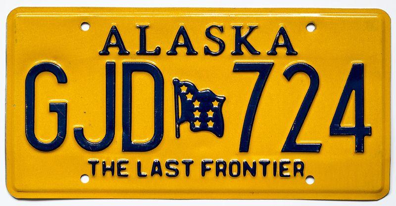 Автомобильный номерной знак The Last Frontier