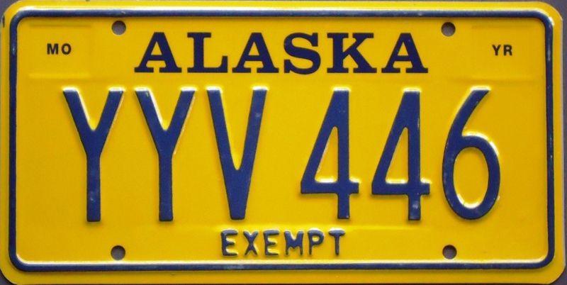 Правительственный номерной знак Аляски