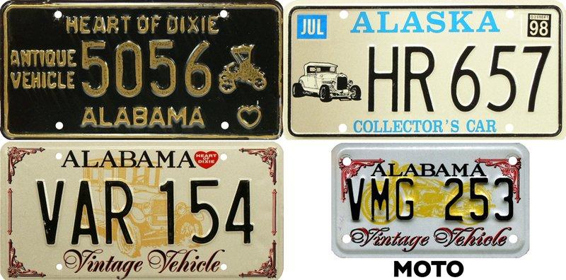 Винтажные авто на номерах Алабамы