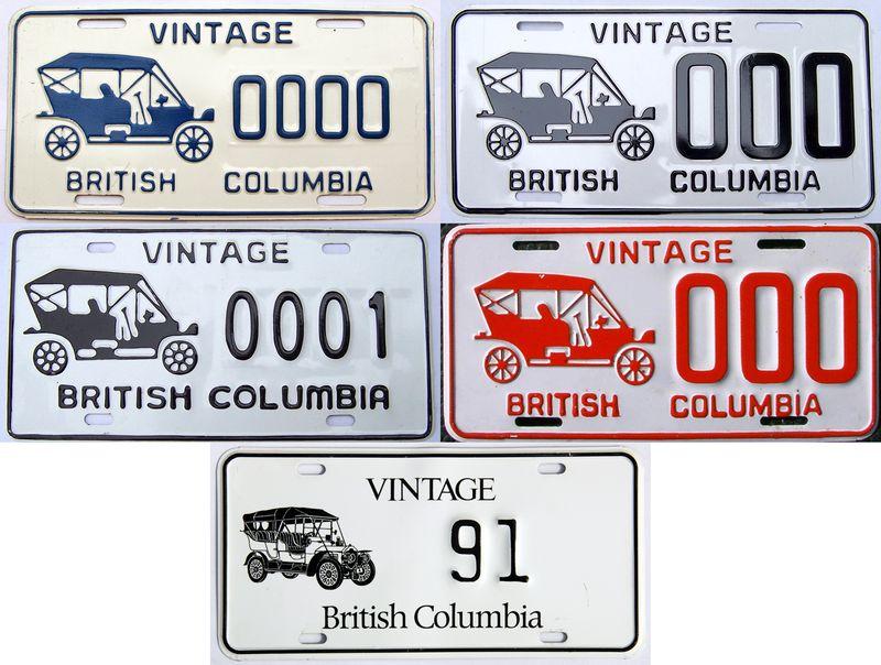 Канадские прототипы табличек
