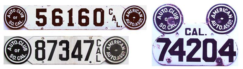 Калифорнийские номера с круглыми печатями