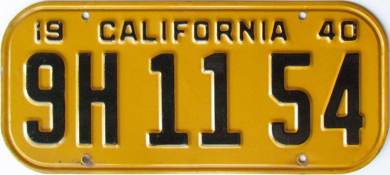 Калифорния 1940