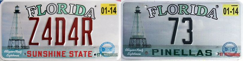 Сувенирные номера Флориды с маяками