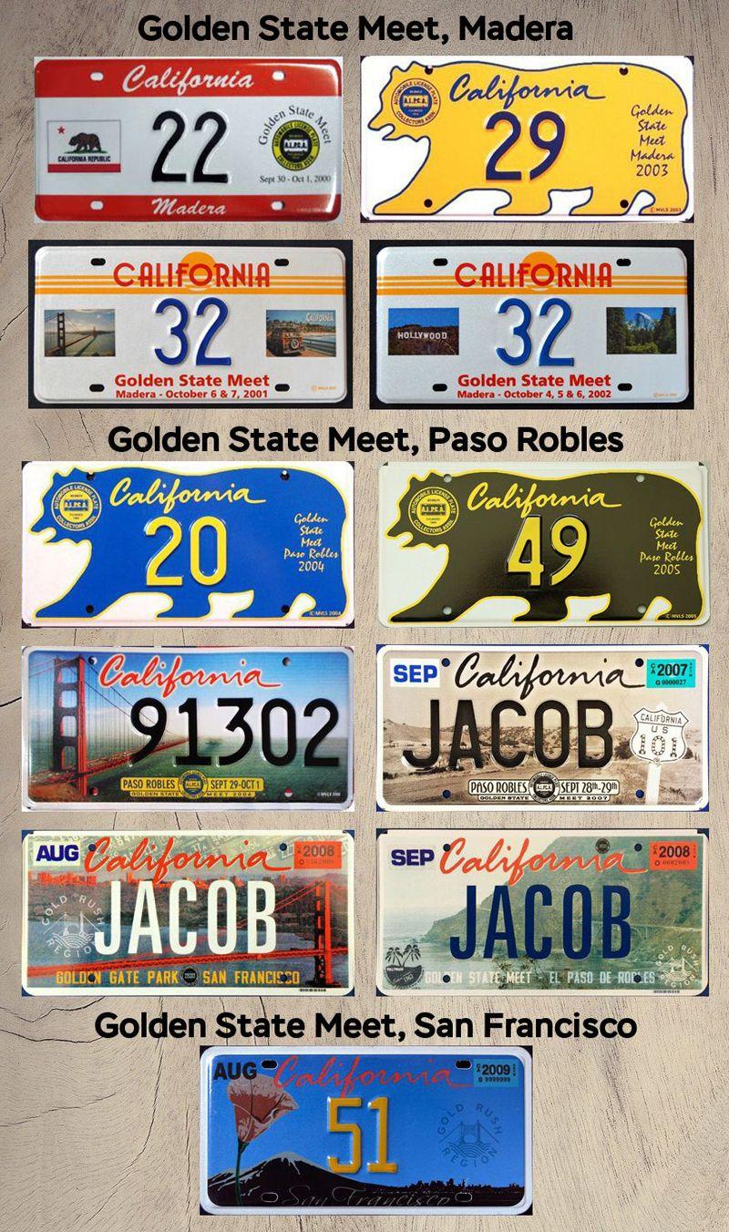 Номерные знаки ALPCA Golden Meet