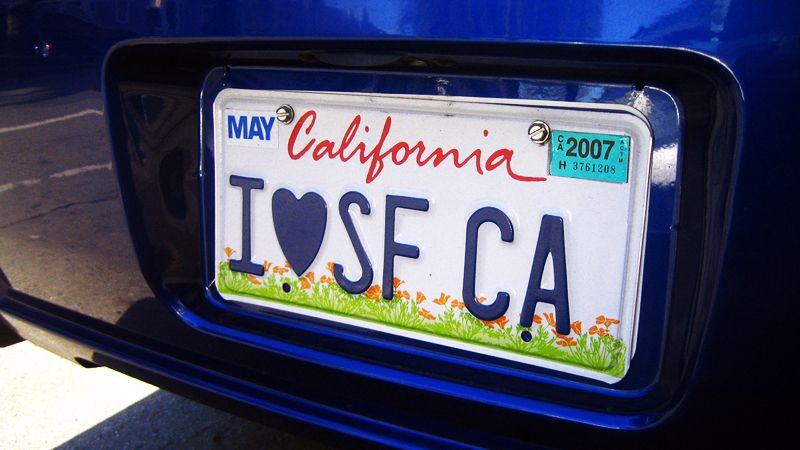 Автомобильный опциональный номер Калифорнии