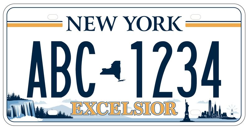 Excelsior New York plate