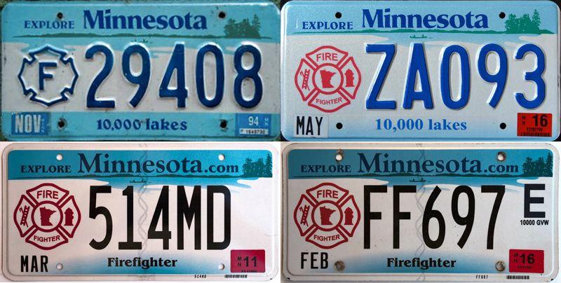 Номерные знаки FF в Миннесоте