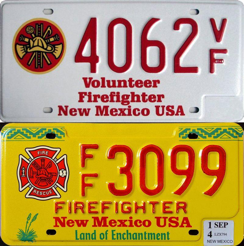 Нью-Мексико - номера огнезащитников