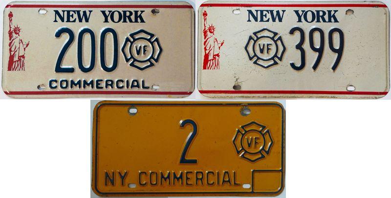 Старые варианты пластин Нью-Йорка