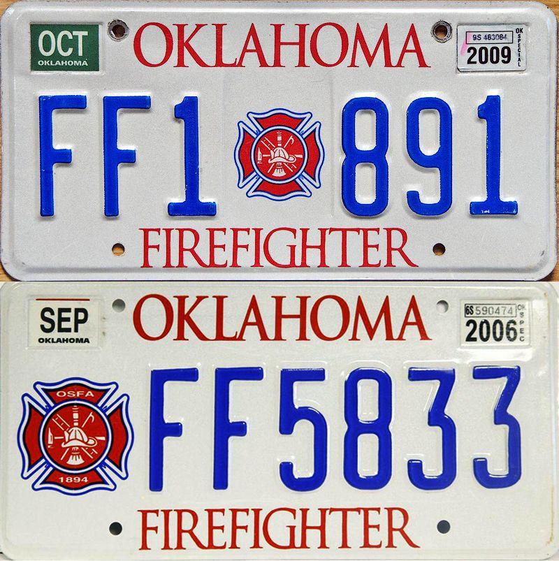 Номерные пластины для автомобилей Оклахомы