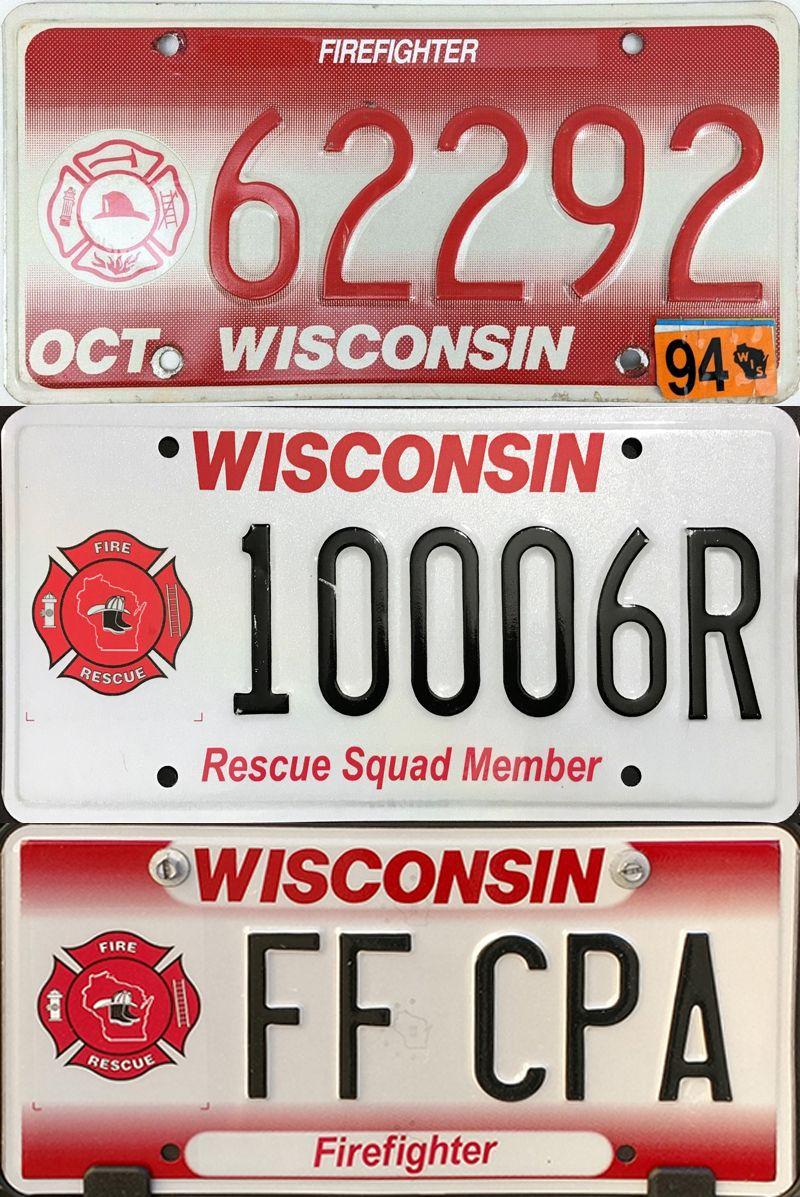 Красно-белые пластины Висконсина