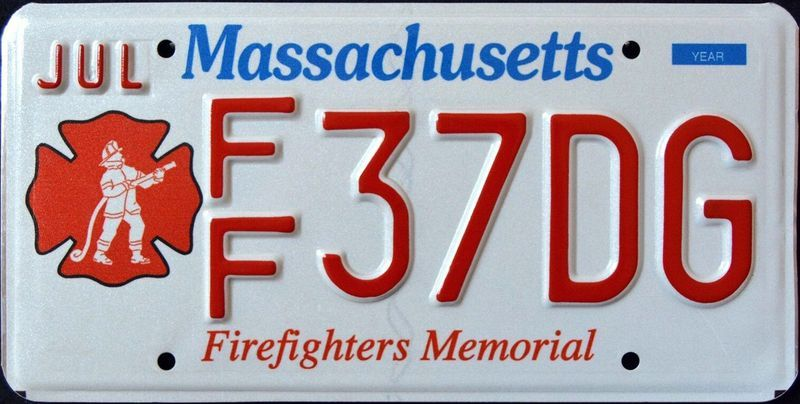 Памятный номерной знак Массачусетса