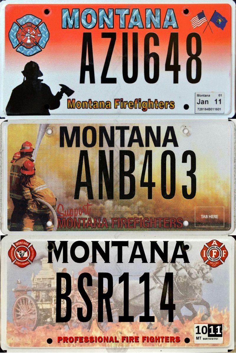 Номерные знаки специального назначения в Монтане
