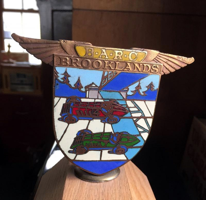 Brooklands license plate topper