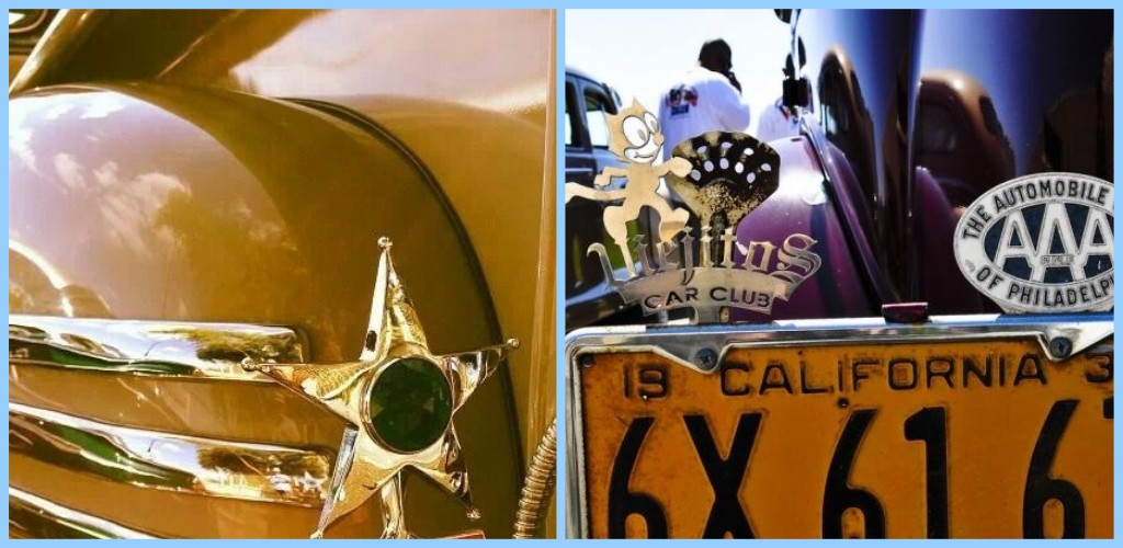 License plate vintage toppers - 1