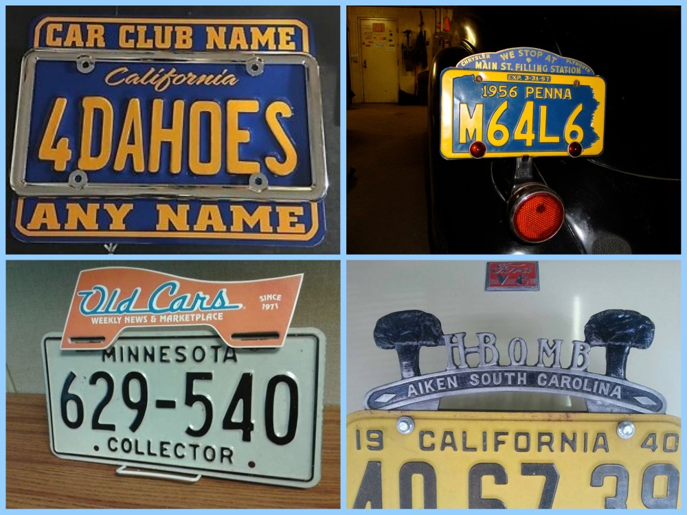 License plate vintage toppers - 10