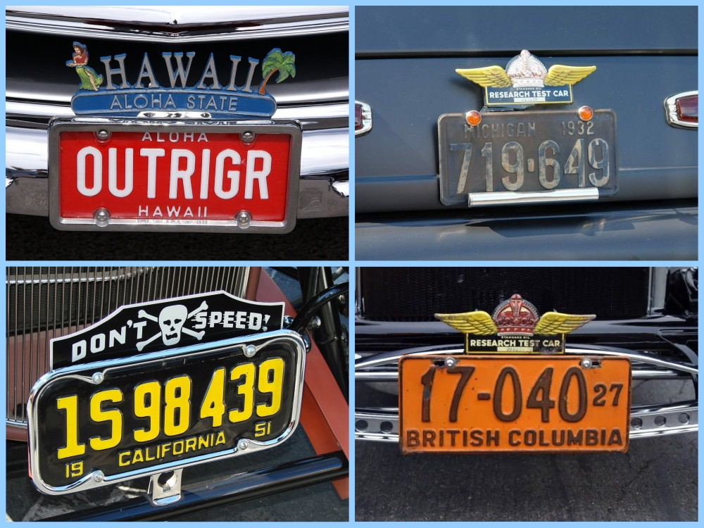 License plate vintage toppers - 11