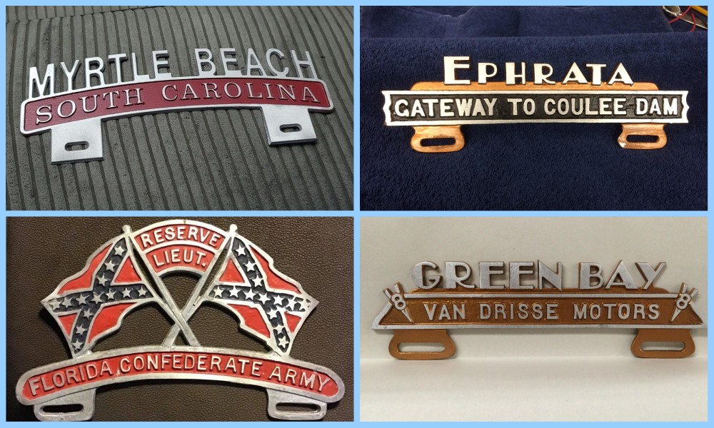License plate vintage toppers - 12