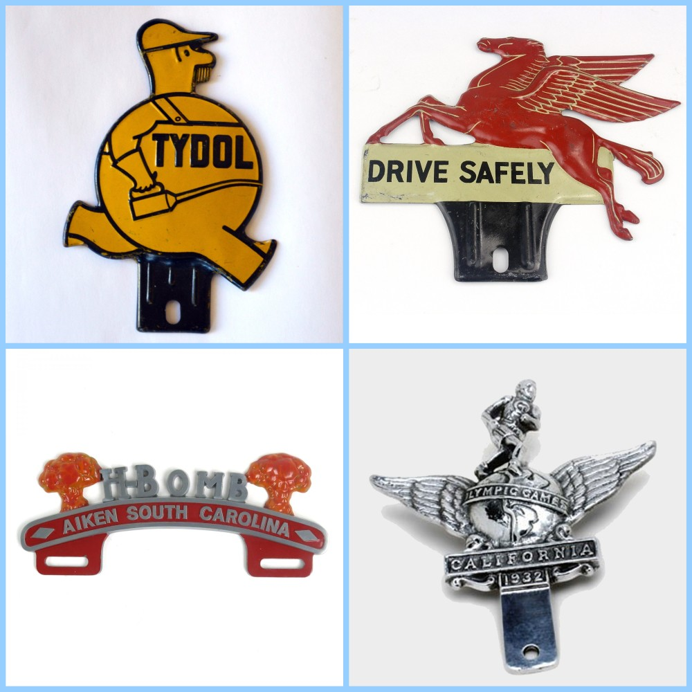 License plate vintage toppers - 3