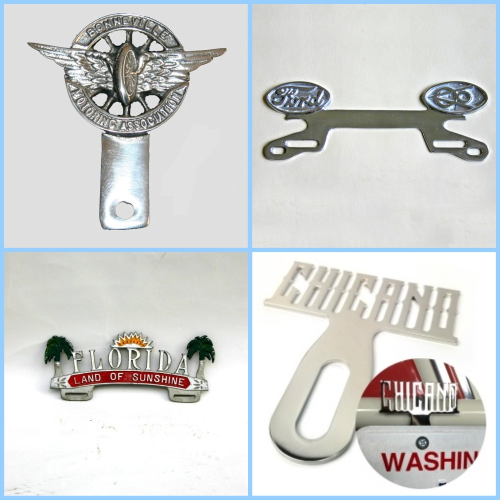 License plate vintage toppers - 4