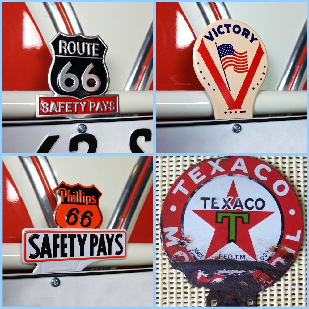 License plate vintage toppers - 5