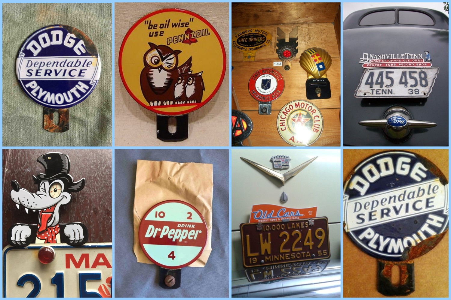 License plate vintage toppers - 6